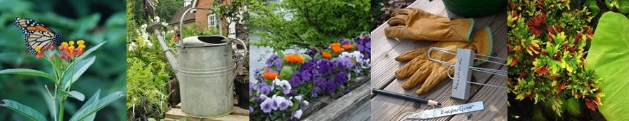 Banner of gardening images.