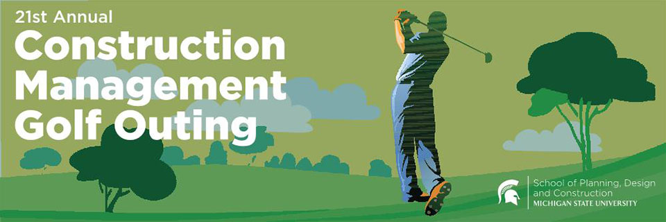 Construction Management golf outing logo.