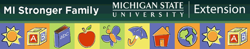 Michigan State University Extension MI Stronger Family logo