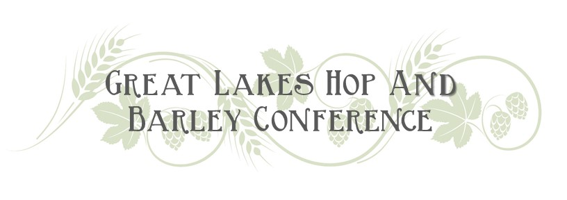 Banner image for the Barley and Hops Conference. Image shows a scroll of hop cones.