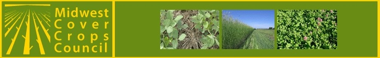 Banner with pictures of cover crops.