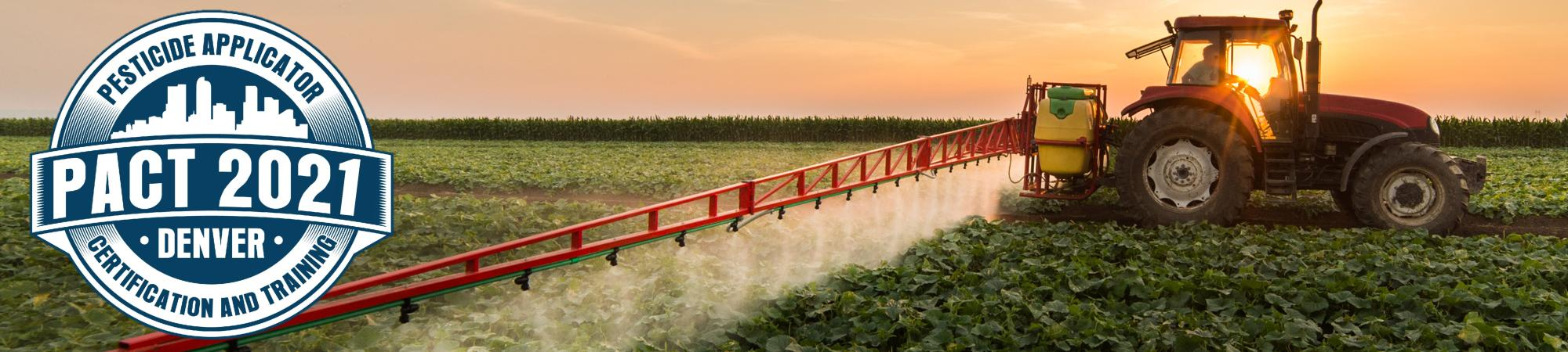 Image of tractor spraying a field.