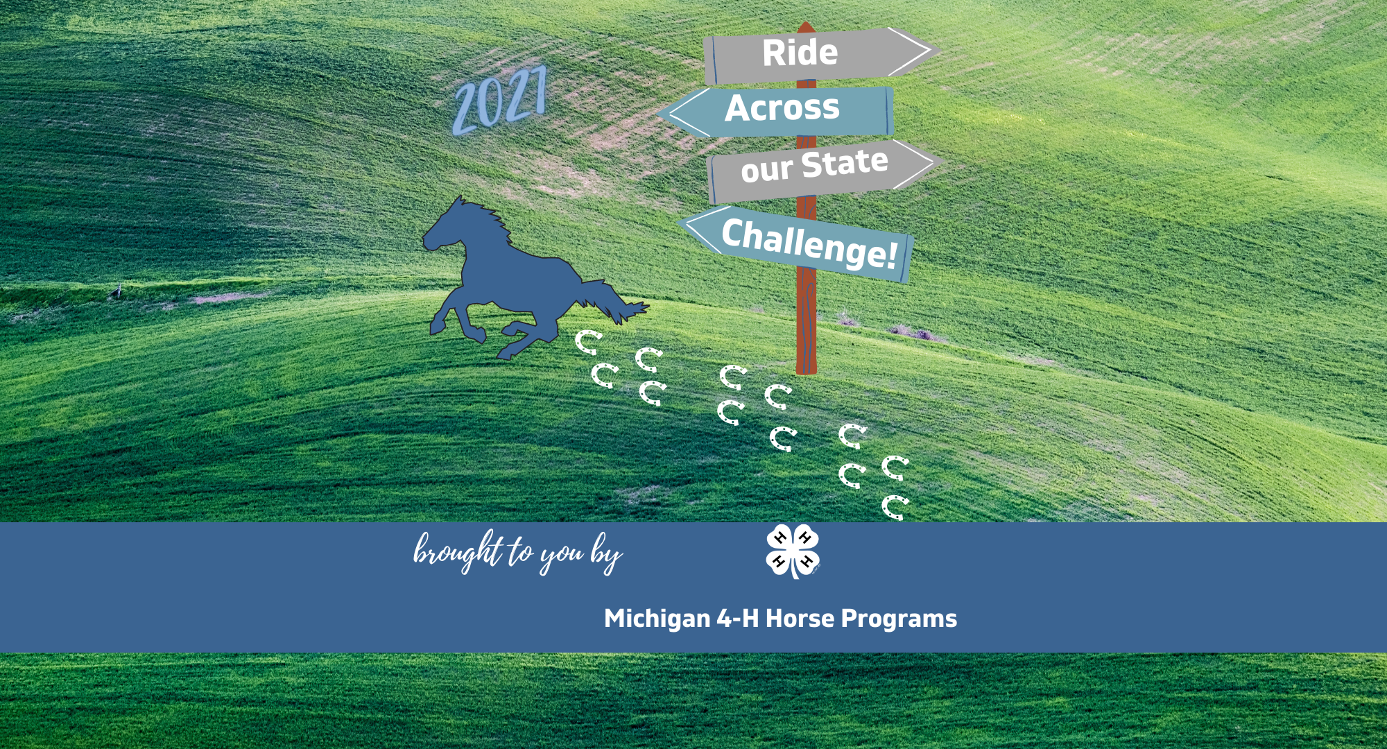 Michigan 4-H Horse Program's Ride Across our State Challenge logo.