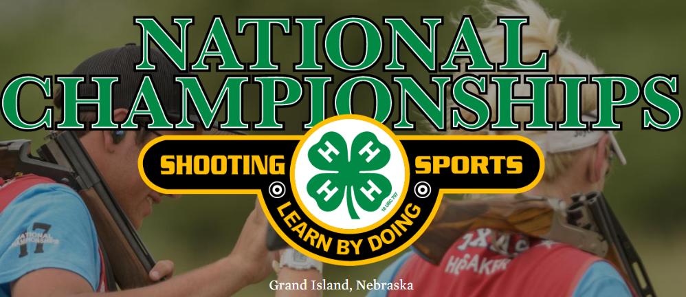 National championships shooting sports logo.