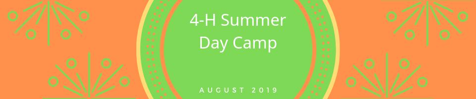 4-H Summer Day Camp logo.