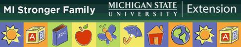 Michigan stronger family logo.