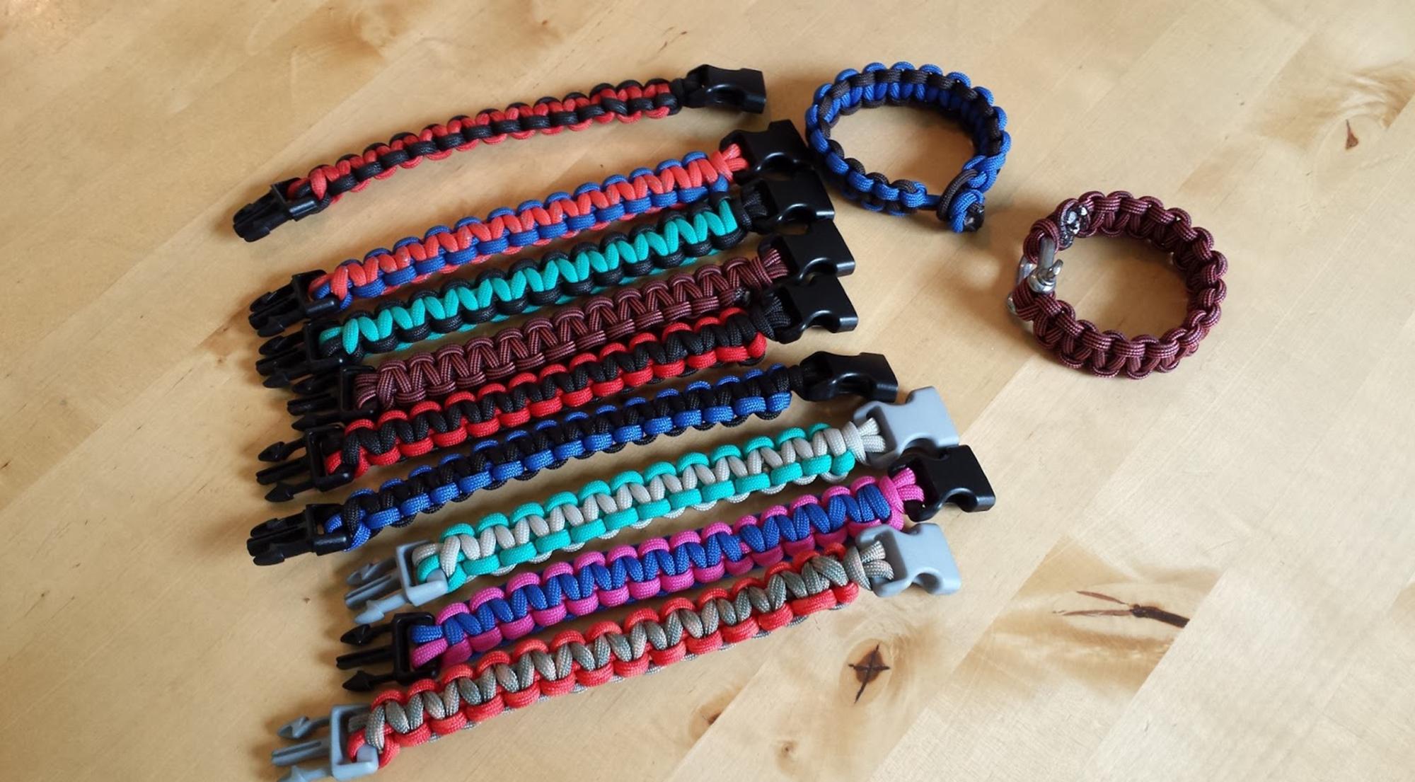 Image of survival bracelets.
