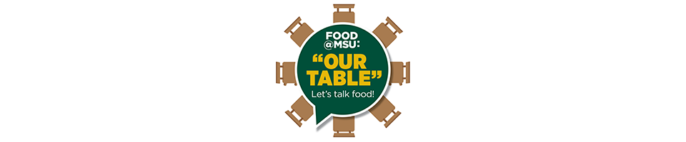 Let's Talk Food Our Table logo with chairs