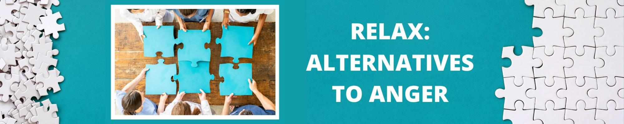 Relax: Alternatives to Anger with puzzle pieces