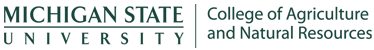 Michigan State University College of Agriculture & Natural Resources logo